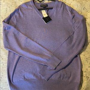 Brooks Brothers Purple V-neck Sweater